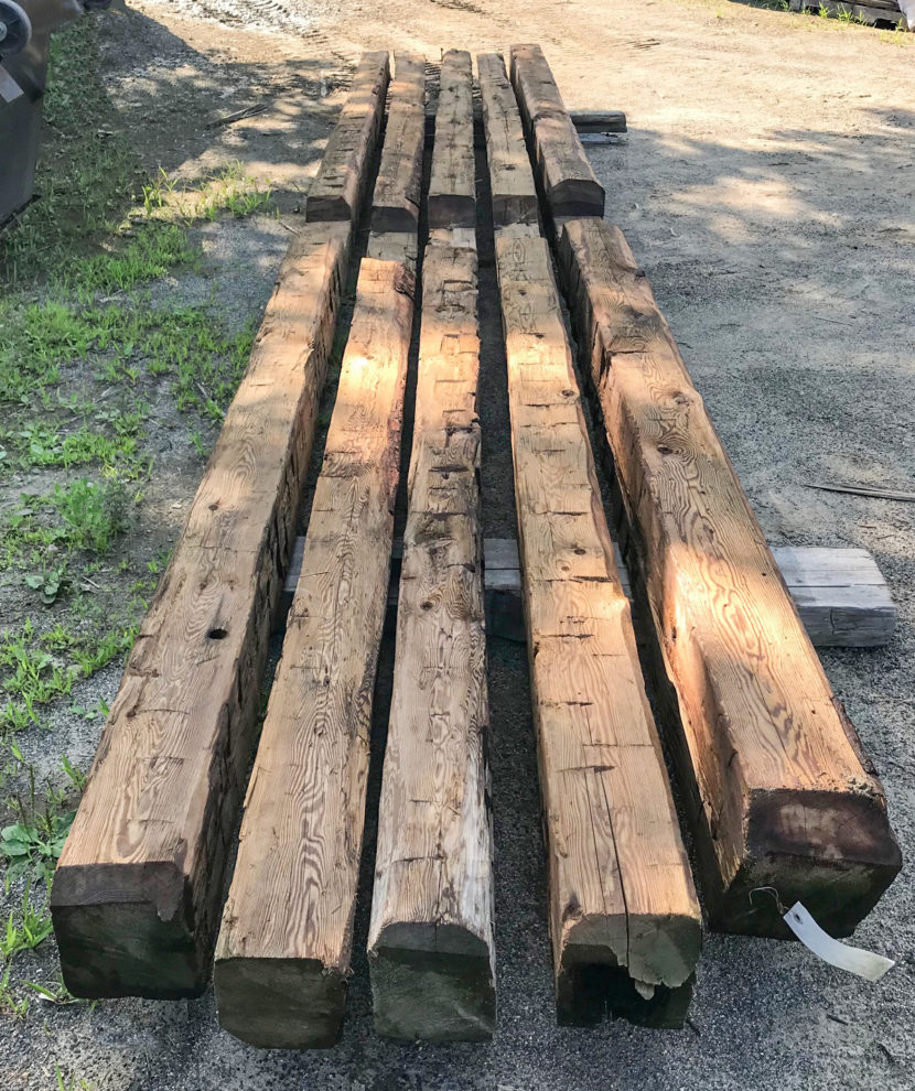 Salvaged Antique Hemlock Beams