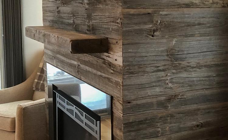 Reclaimed Original Surface Hemlock Mantel