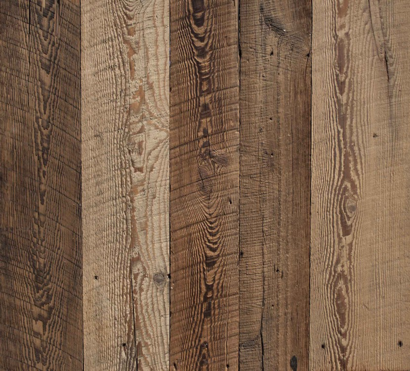 Reclaimed Wire-Brushed Hemlock Paneling