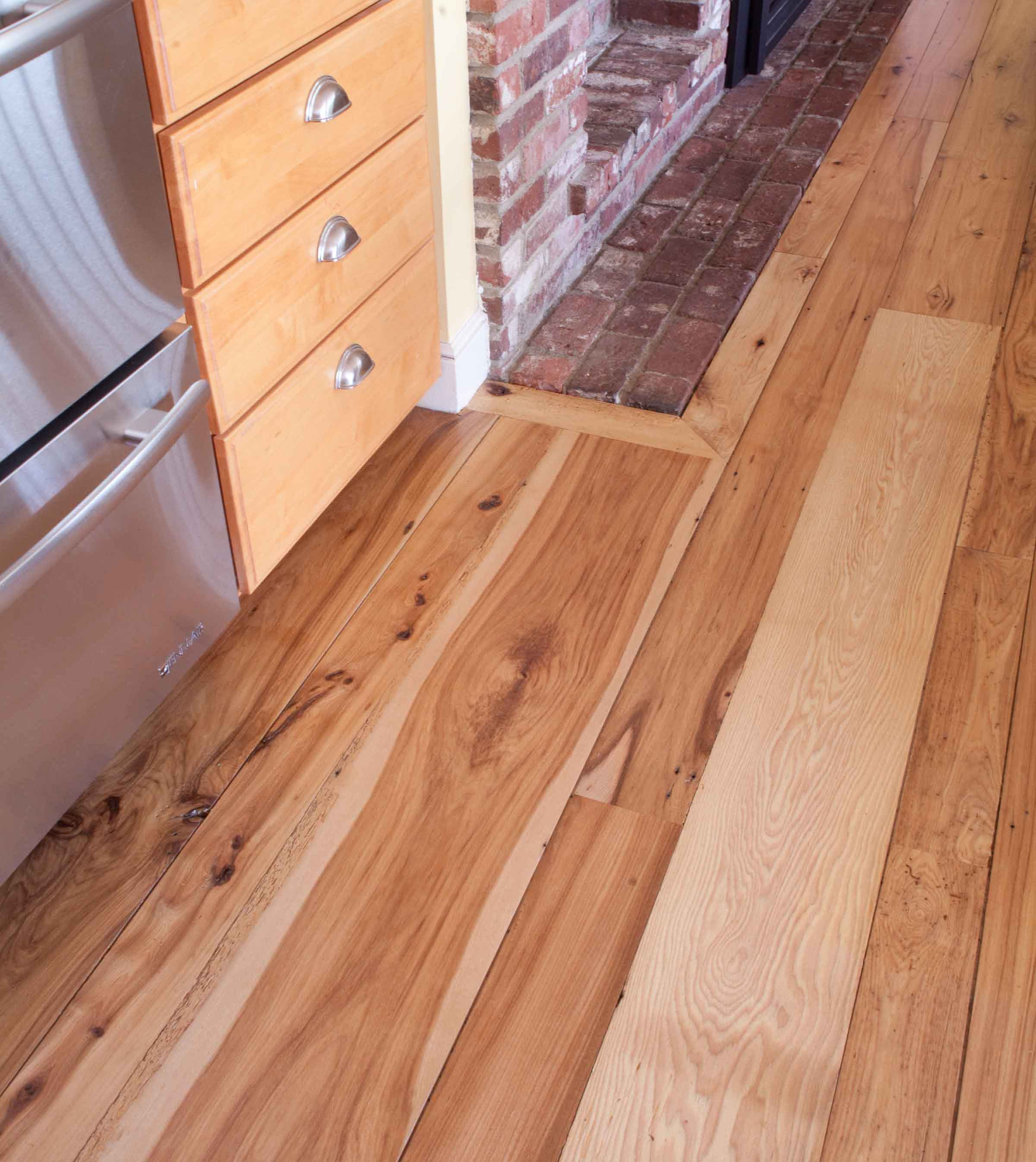 Longleaf lumber reclaimed hickory flooring for Recycled wood floors