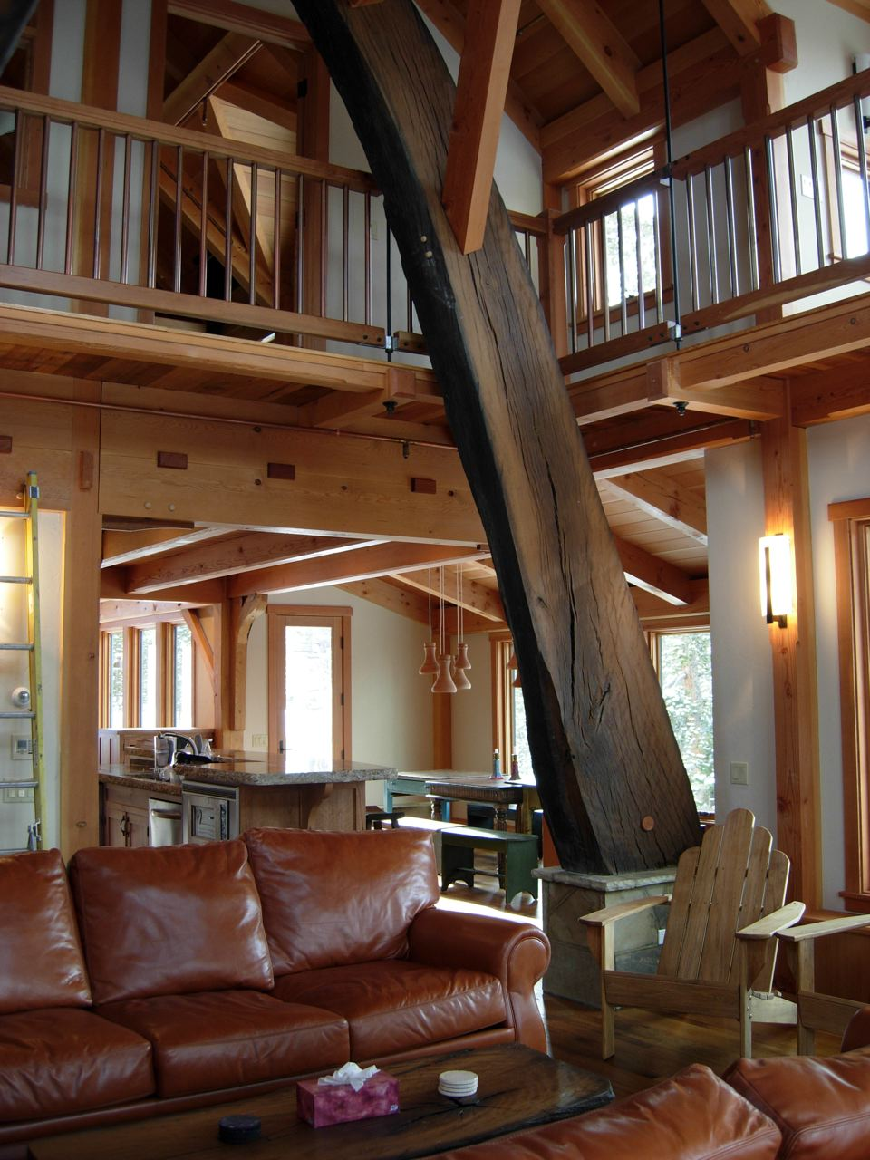 Live Oak Timber Frame Cruxes In Colorado Private Home