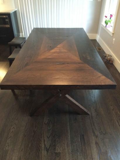 Finished Reclaimed Live Oak Tabletop