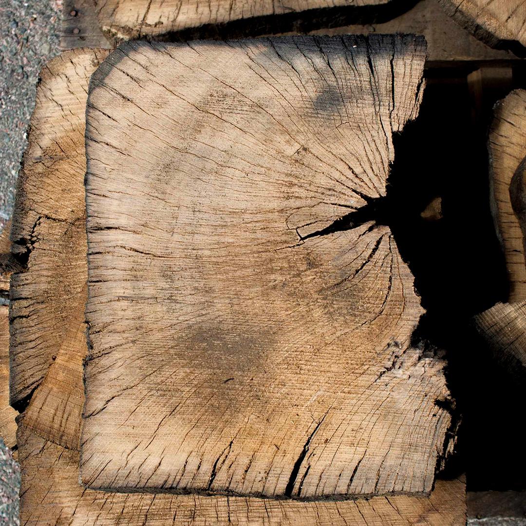Reclaimed Live Oak Pedestal Slices