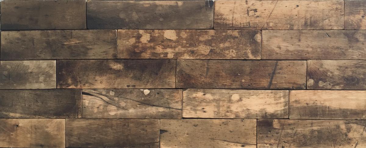 Reclaimed Maple Flooring Used As Paneling