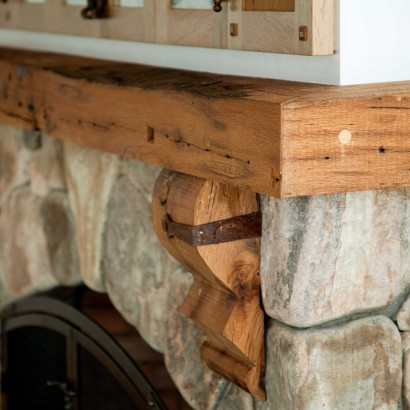 Reclaimed Oak Fireplace Mantel