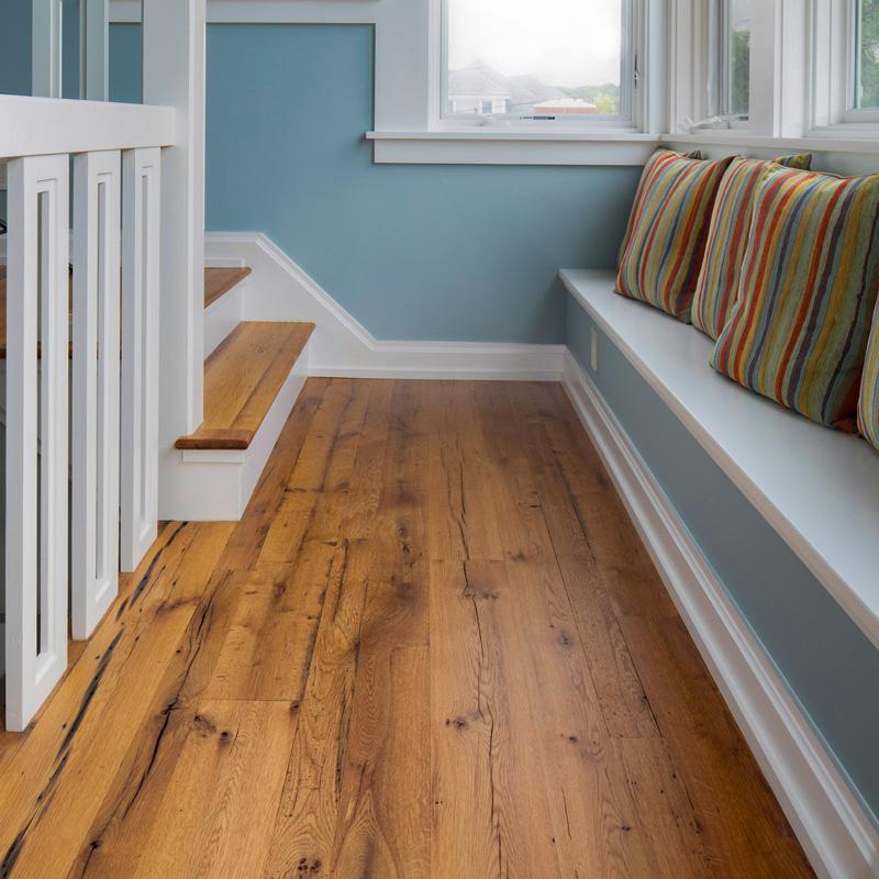 Reclaimed Oak Flooring in Private Home