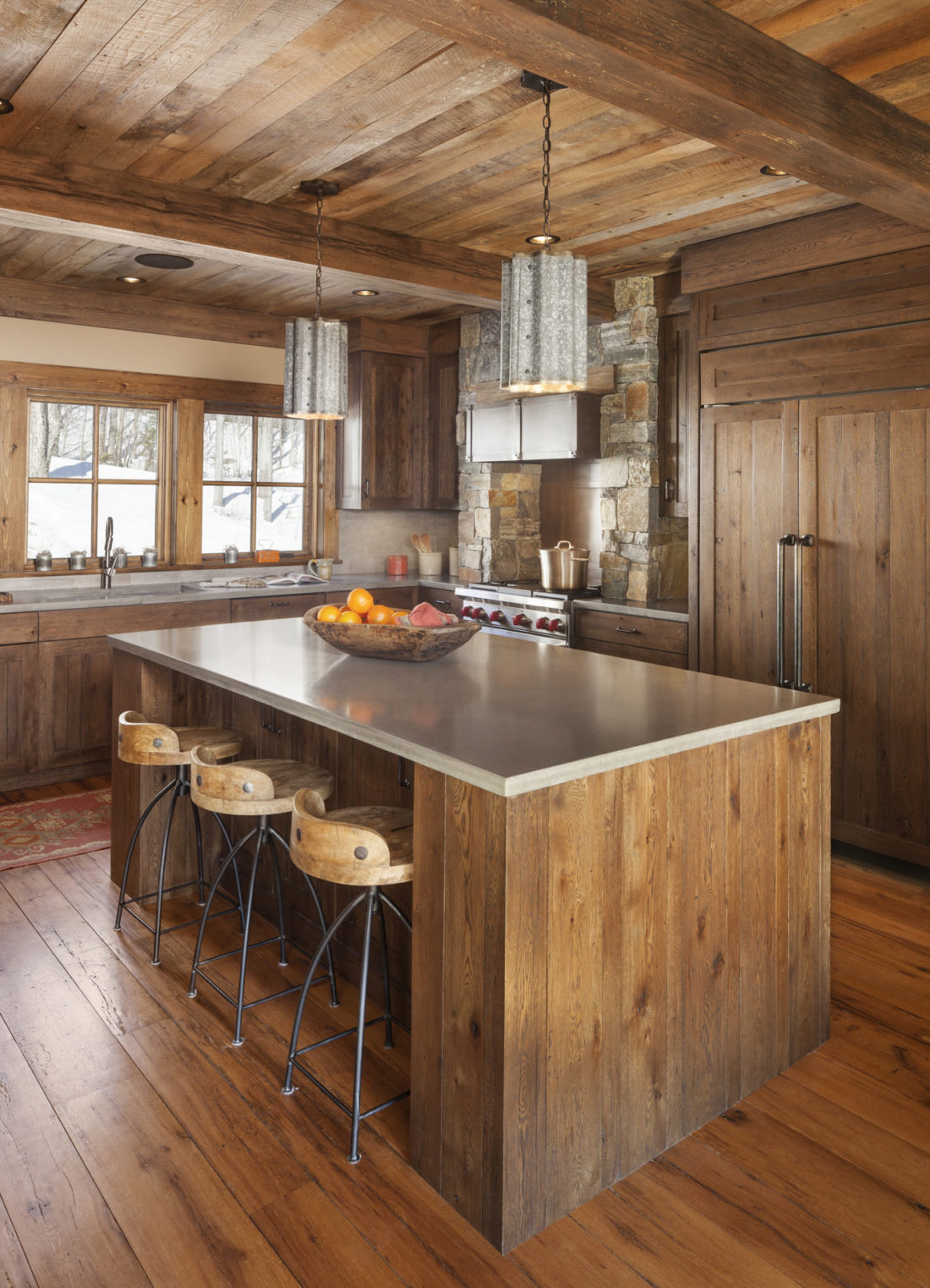 Kitchens With Wood Paneling: White Oak Interior Paneling And Flooring