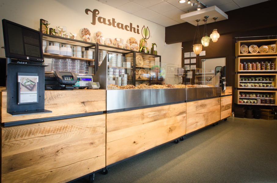 Reclaimed White Oak Paneling ~ Fastachi, Watertown, Massachusetts