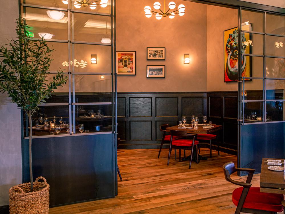 Reclaimed Custom-Milled Skip-Planed Oak Restaurant Flooring