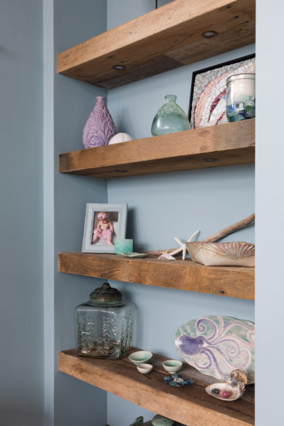 Reclaimed Oak Shelving in Private Home