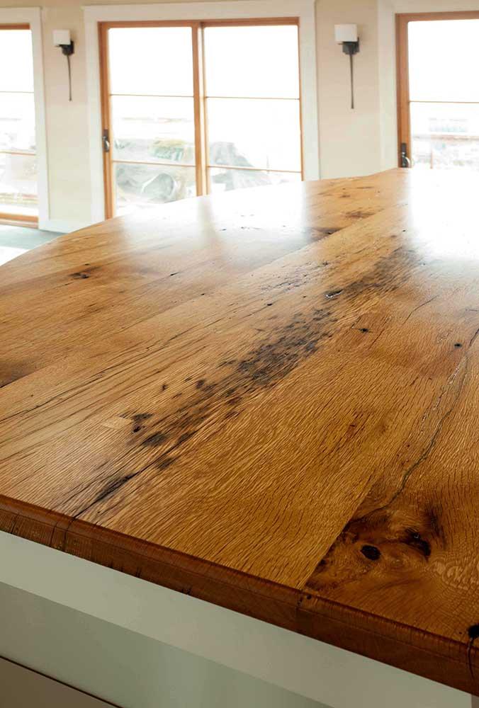 Reclaimed Oak Countertop ~ Martha's Vineyard, Massachusetts, Private Residence