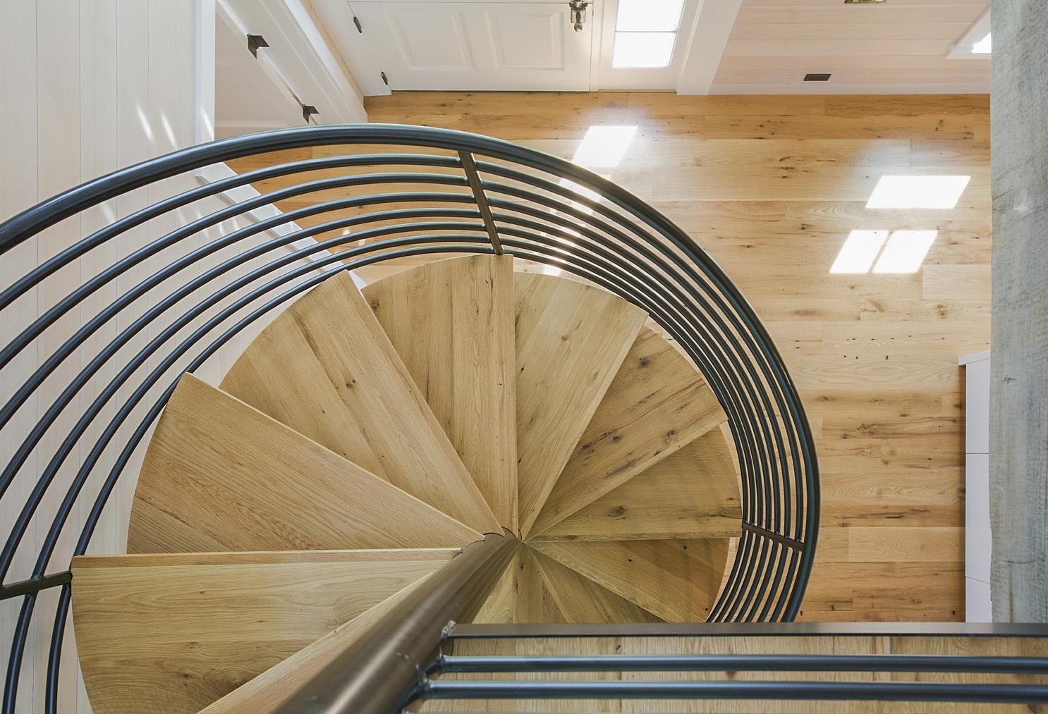 Reclaimed Oak Treads And Flooring In Cape Residence · . Custom Reclaimed Oak  Stair Treads
