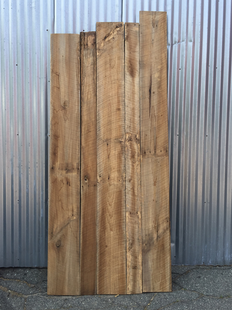 Reclaimed Poplar Reversible Wire-Brushed Paneling