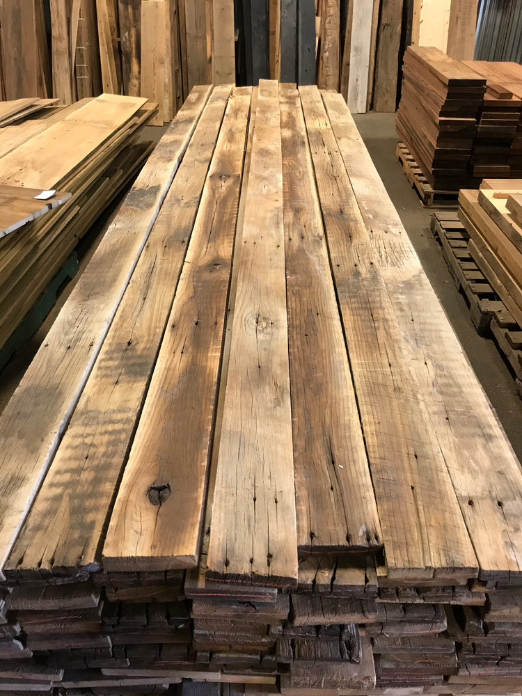 Wire-Brushed Reclaimed Poplar Paneling