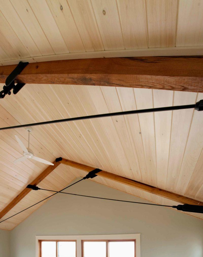 Reclaimed Rough Sawn Oak Ceiling Beams ~ Private Residence, Martha's Vineyard, Massachusetts