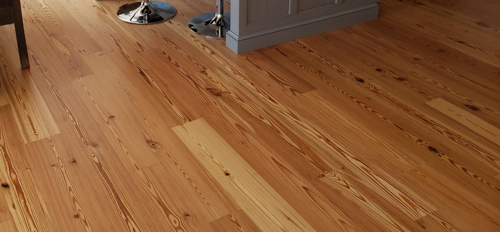 Reclaimed Select Flatsawn Heart Pine Wood Floor