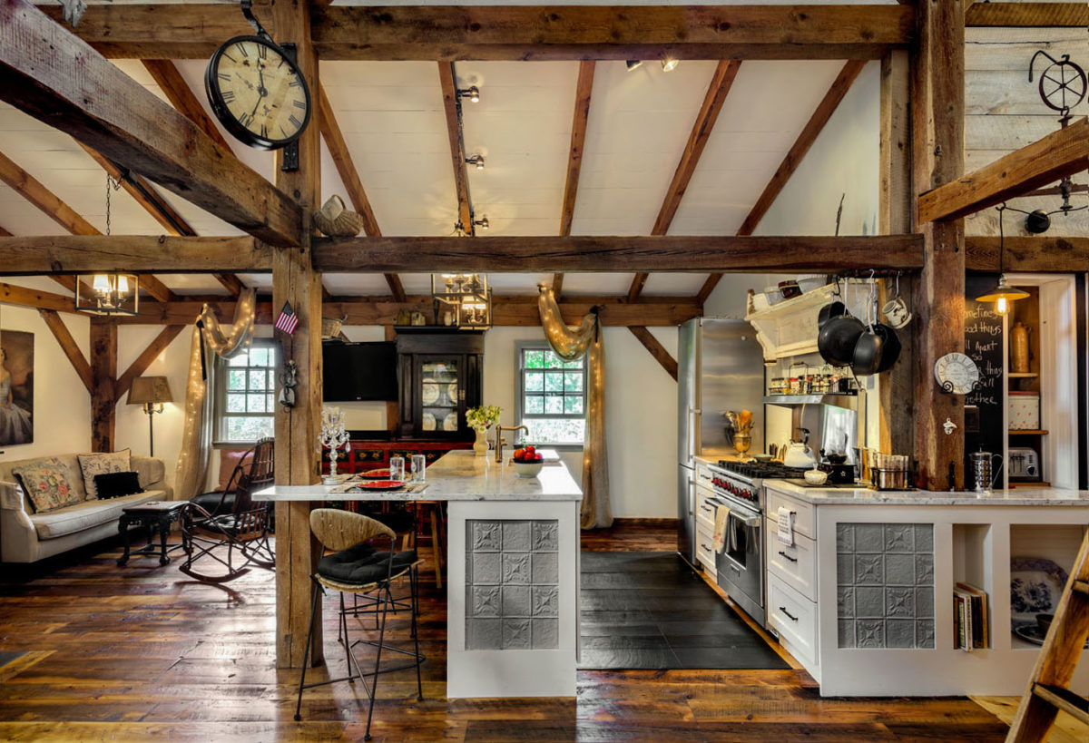 Reclaimed Skip-Planed Northern Hard Pine Flooring
