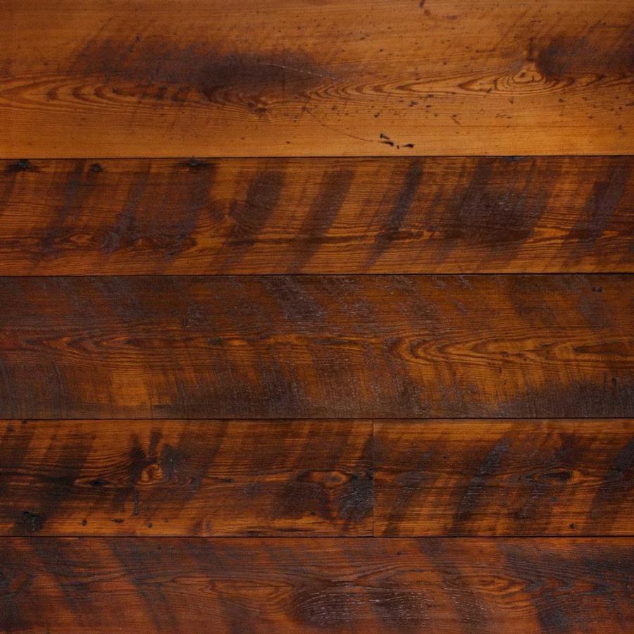 Reclaimed Skip-Planed Heart Pine Paneling