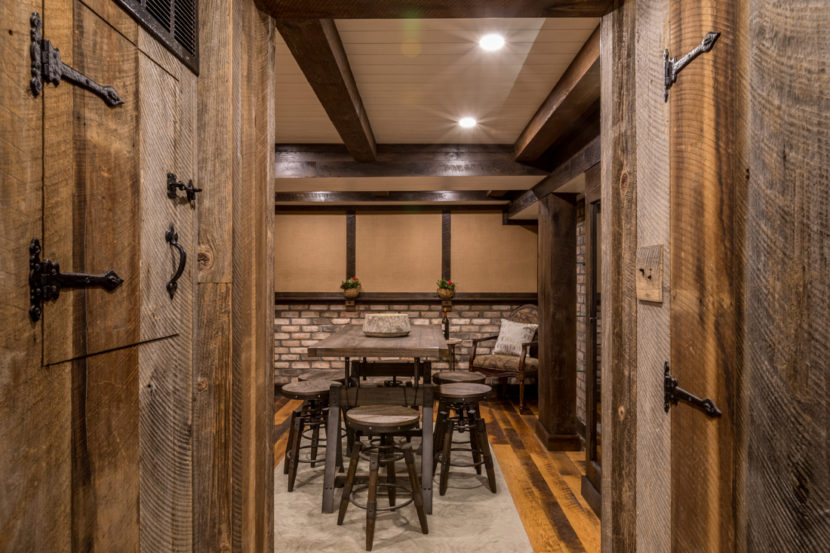 Reclaimed Skip-Planed Oak Paneling and Flooring