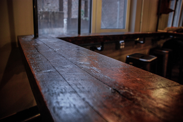 Longleaf lumber reclaimed caf tables for Local reclaimed wood