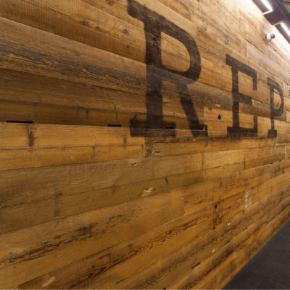 Reclaimed Wire-Brushed Spruce Paneling