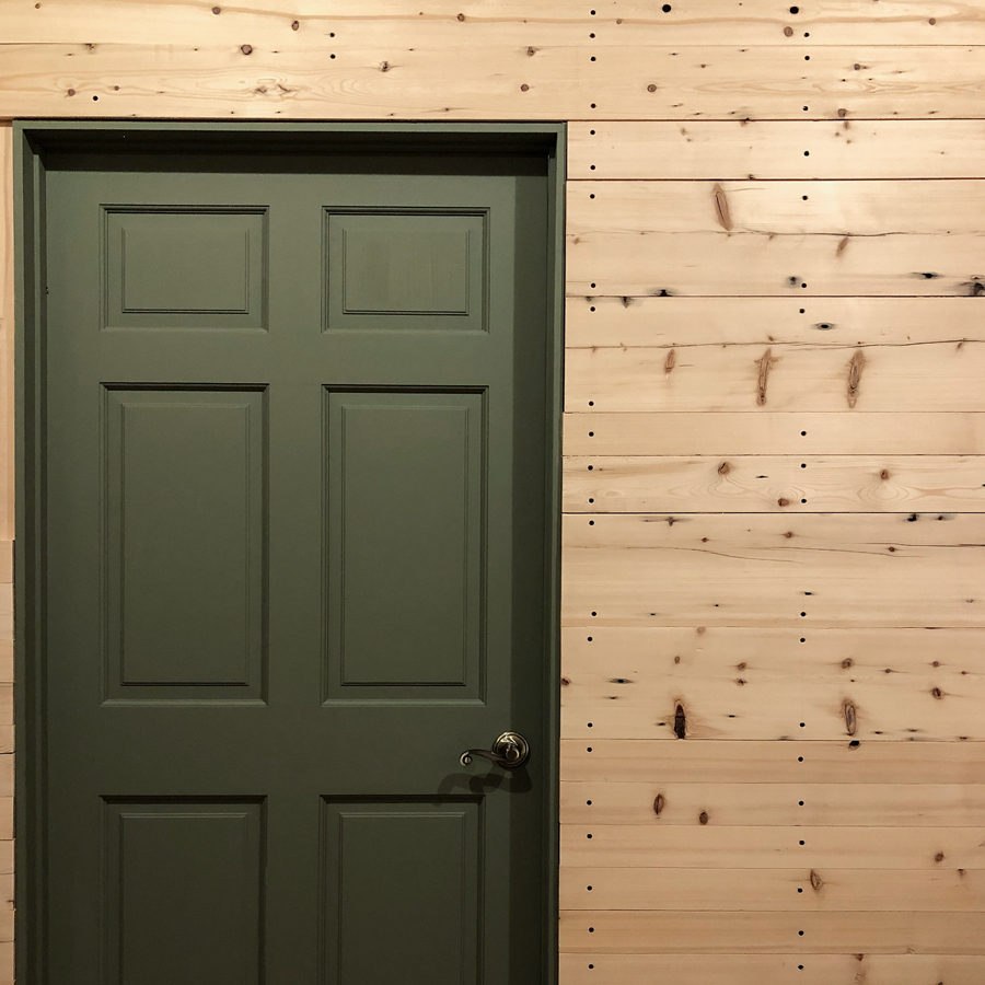 Reclaimed Spruce Bolt-Hole Paneling