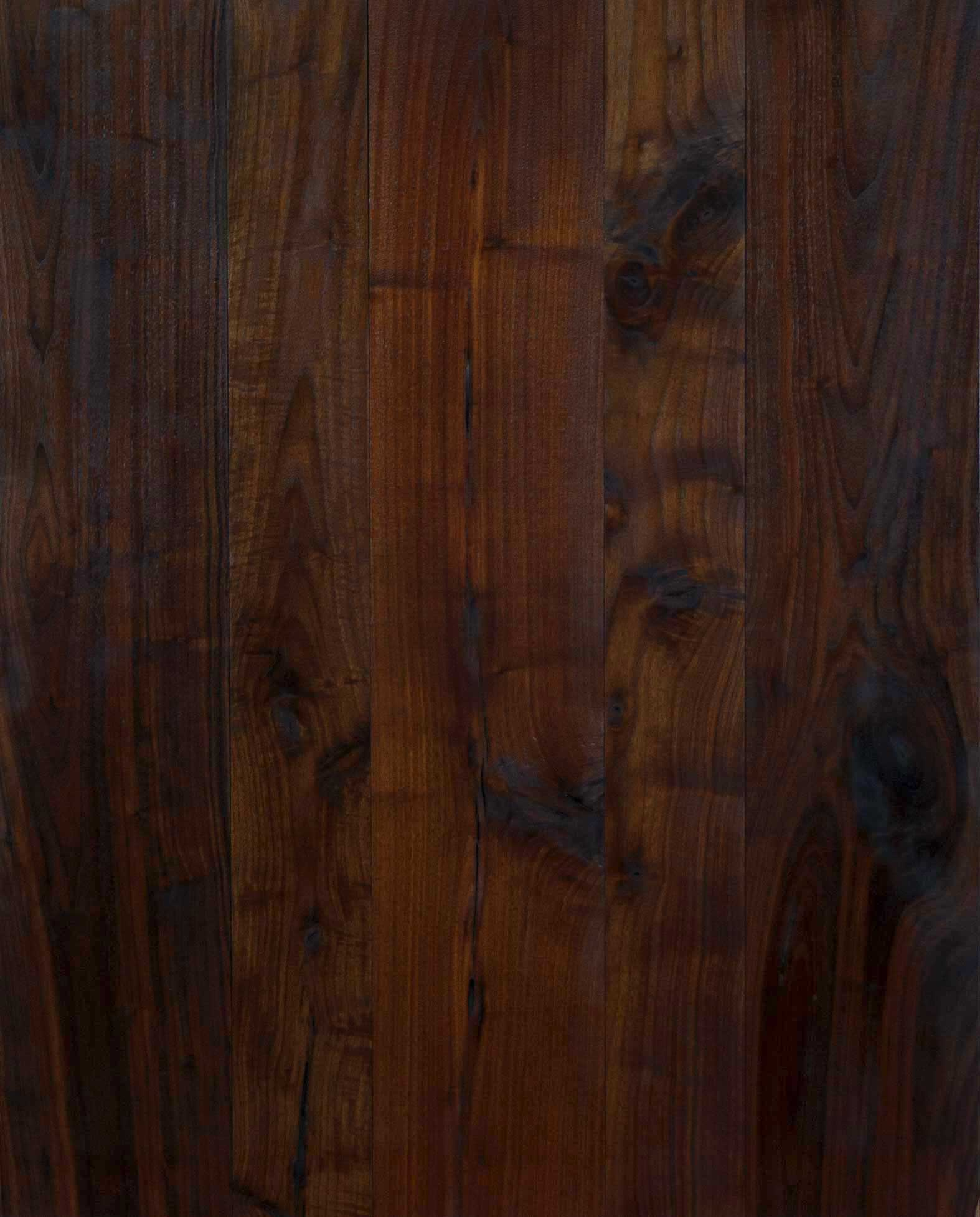 Longleaf lumber reclaimed walnut flooring black for Walnut hardwood flooring