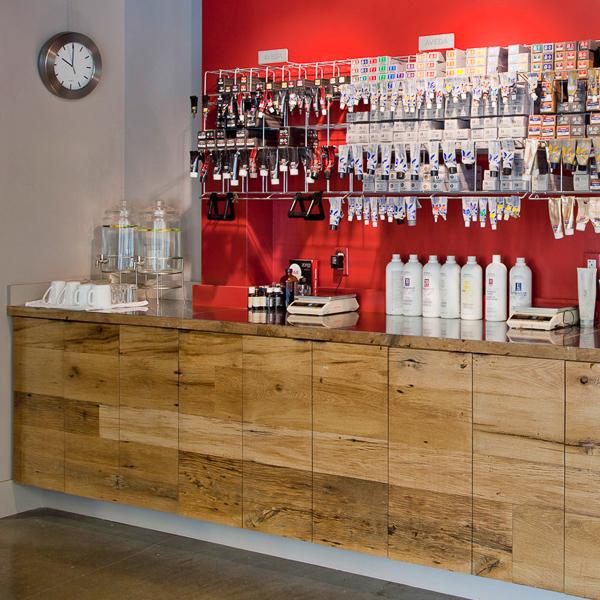 Reclaimed White Oak Paneling ~ Salon, Norwell, MA