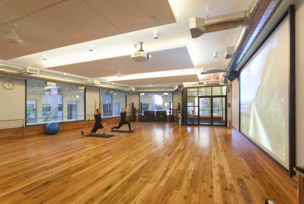 Reclaimed White Oak Gym Flooring