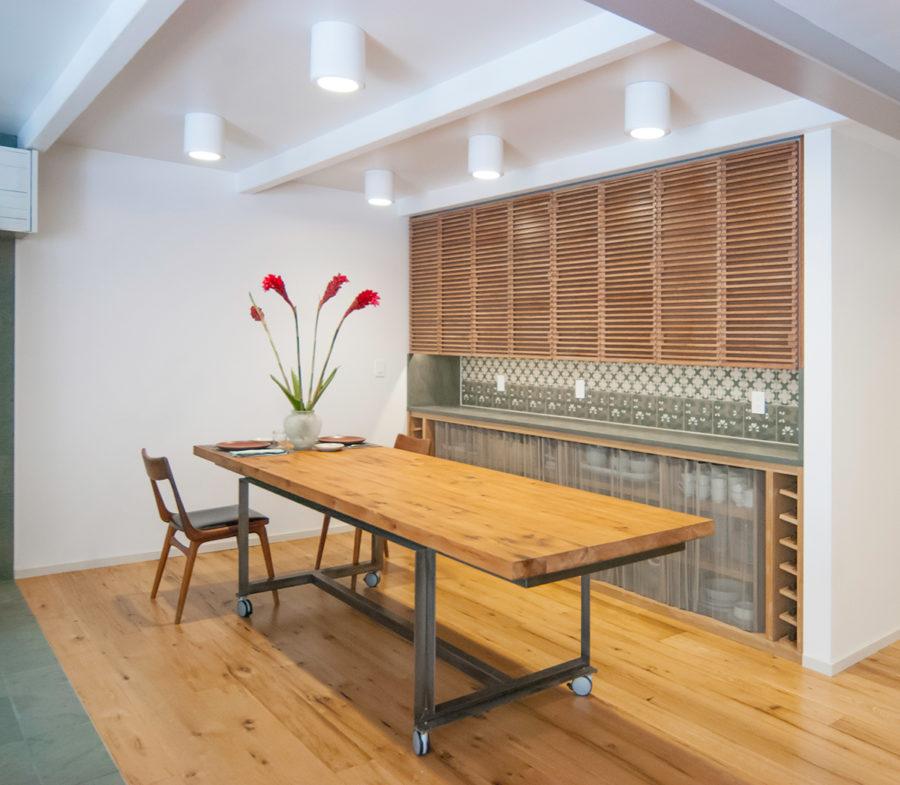 Reclaimed White Oak Flooring and Tabletops.