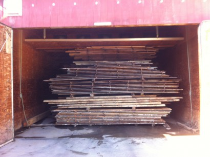 Drying Reclaimed Wood for the Seydel Reading Room