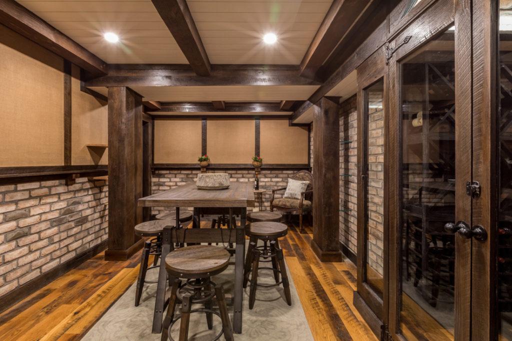 Reclaimed Wood Millwork and Skip-Planed Oak Flooring