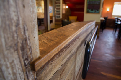 Salvaged Barn Board and Reclaimed Oak, Gloucester, MA Restaurant