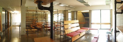 Reclaimed White Wood Benches & Shelving Hampshire College