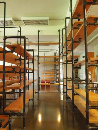Reclaimed White Wood Shelving Hampshire College