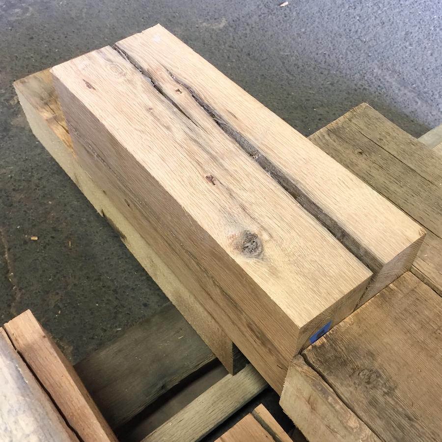 Short Surfaced Reclaimed Wood Beams