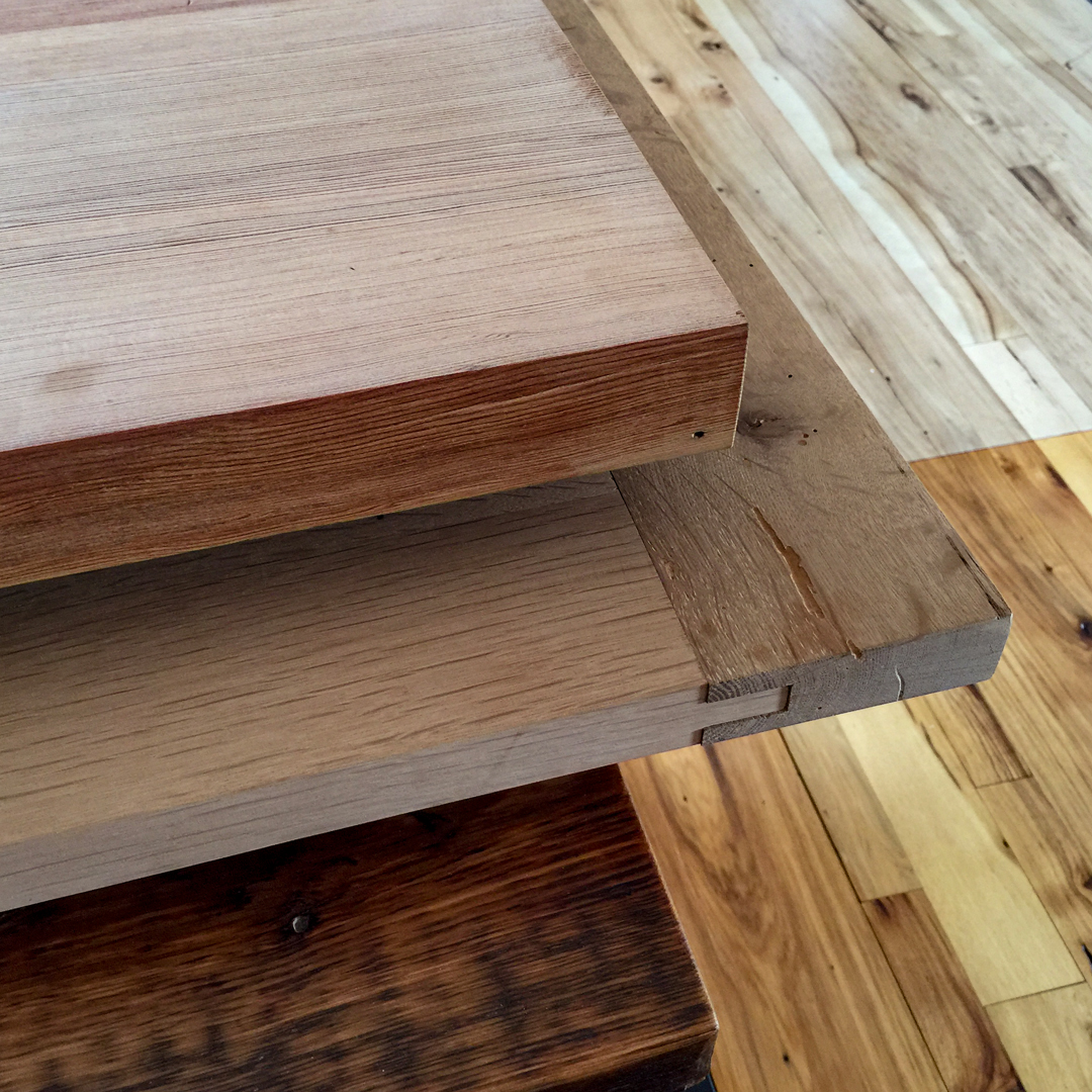 Reclaimed Wood Unfinished Tops