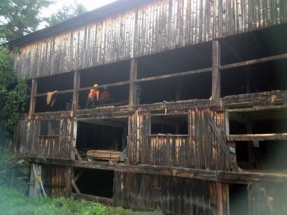 Reclaiming Barn Wood in Massachusetts