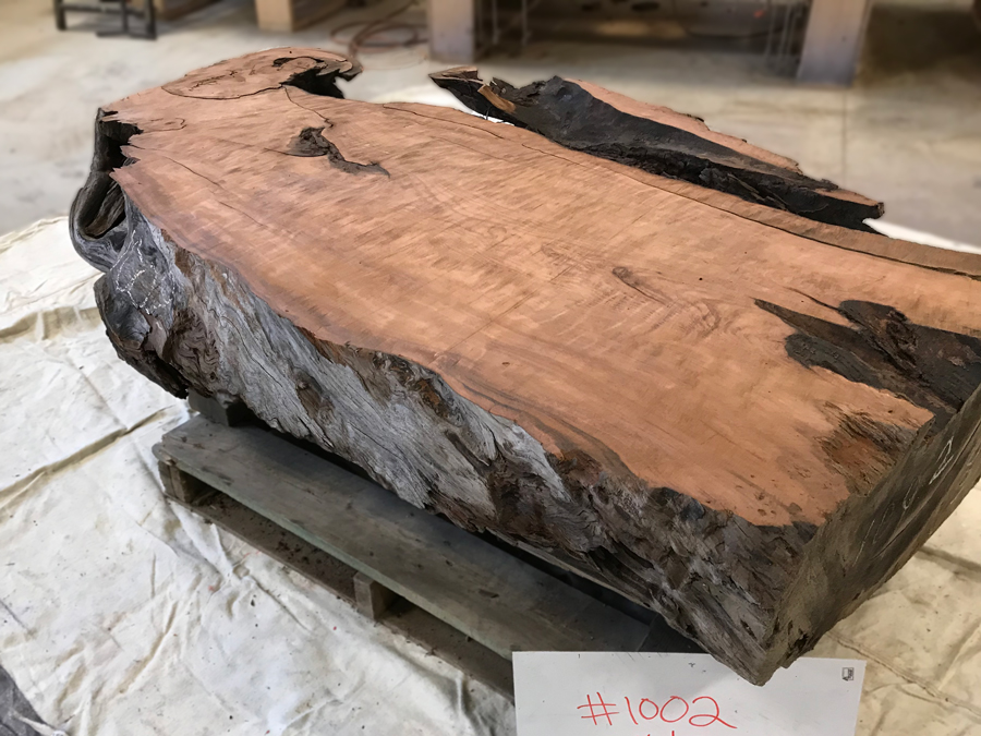 Salvaged Redwood Base Number 1002