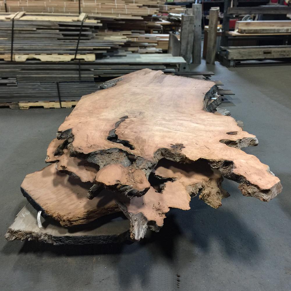 Salvaged Redwood Large Slabs