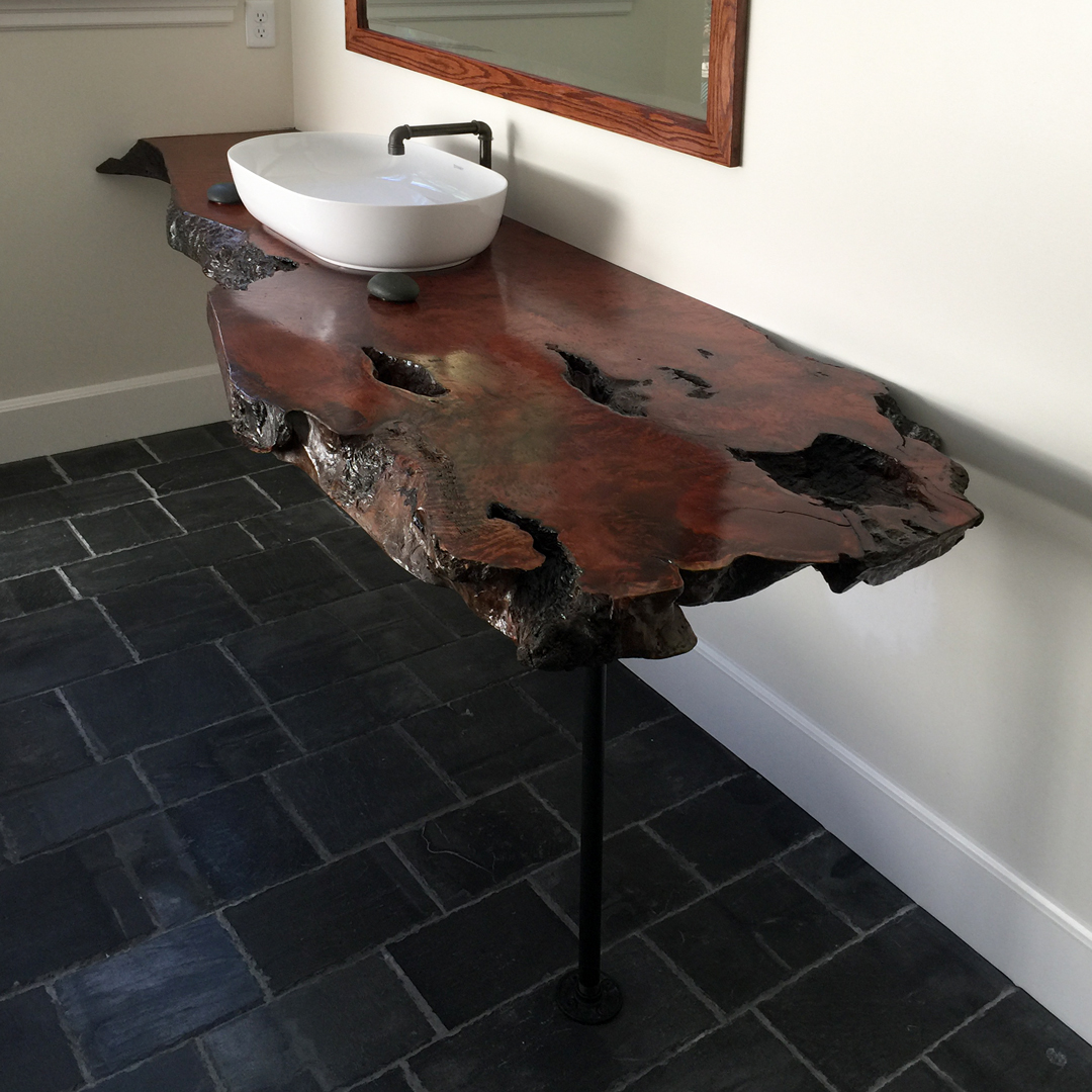 Salvaged Redwood Vanity Top