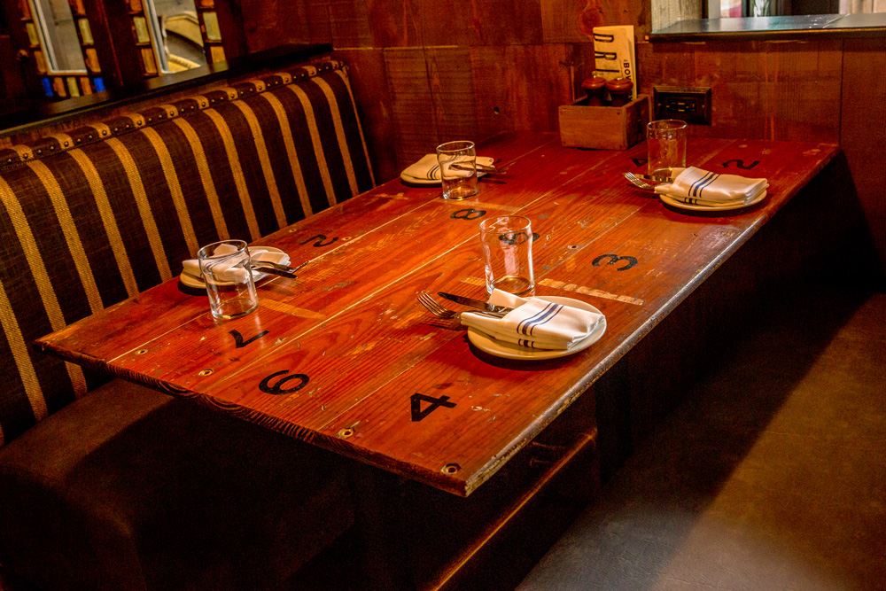 Restaurant Tables Crafted From Salvaged Bleachers