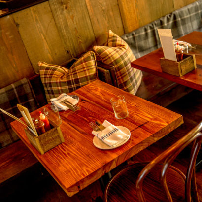 Reclaimed Heart Pine Cafe Restaurant Tables