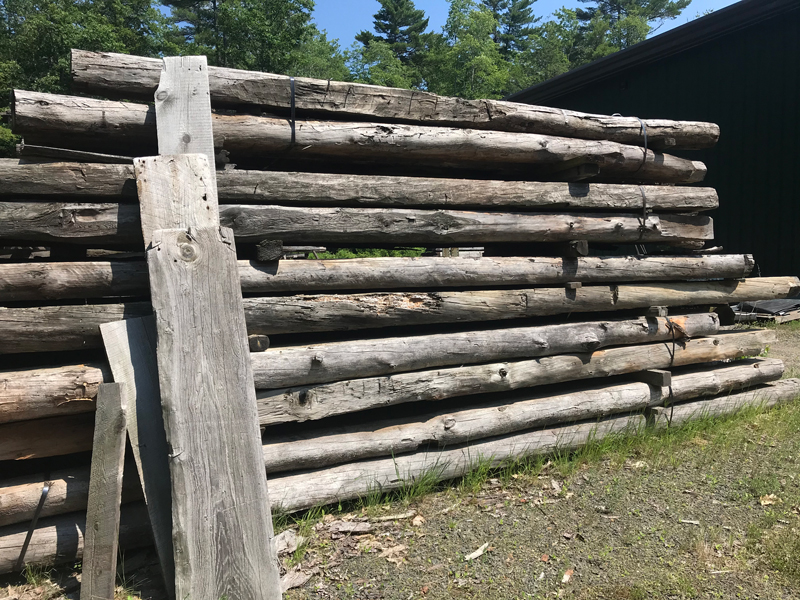 Reclaimed Antique Beams at Longleaf Lumber in Berwick, Maine