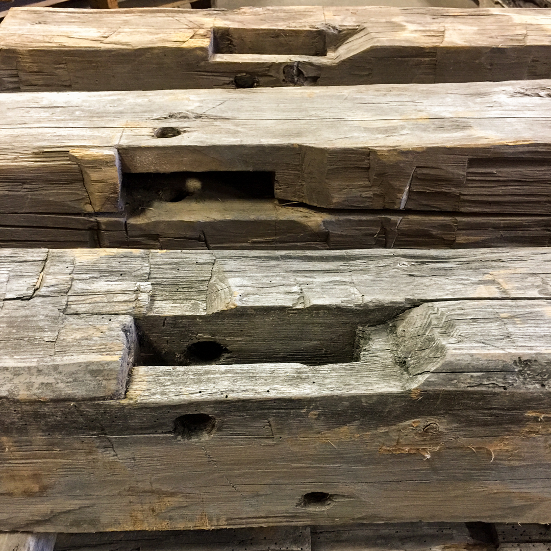 Hand-Hewn Rustic Softwood Mantels