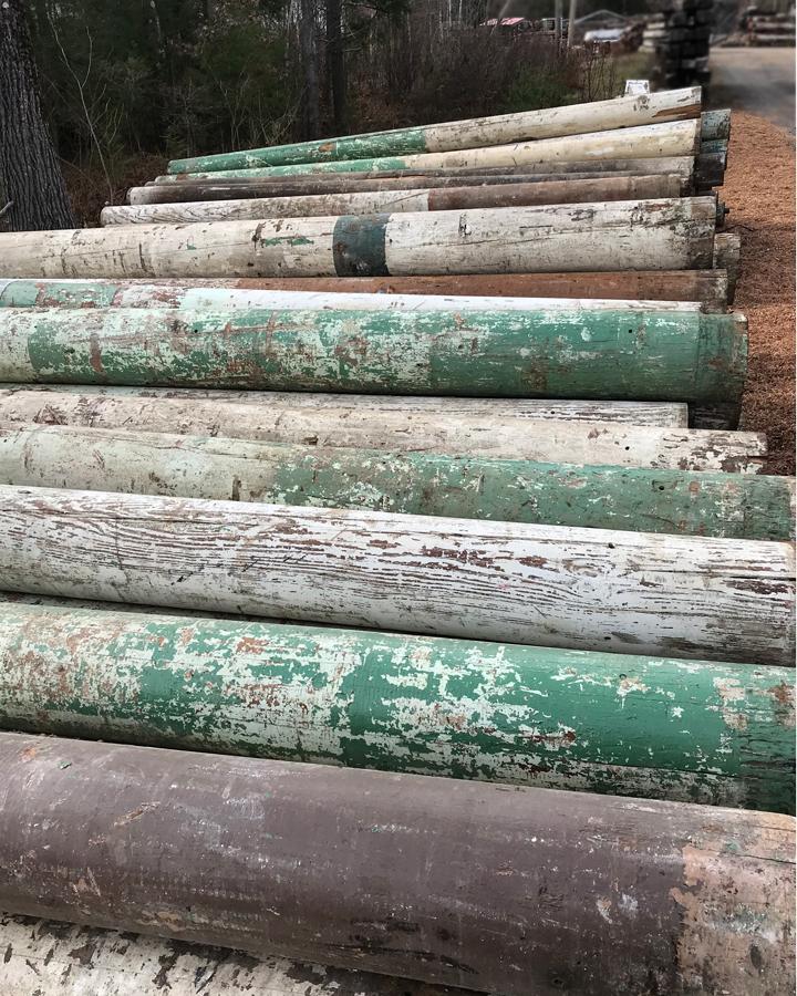 Salvaged Southern Yellow Pine Columns