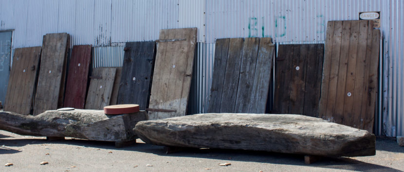 Salvaged Antique Barn Doors Available For Sale at the Longleaf Lumber Showroom in Cambridge, MA