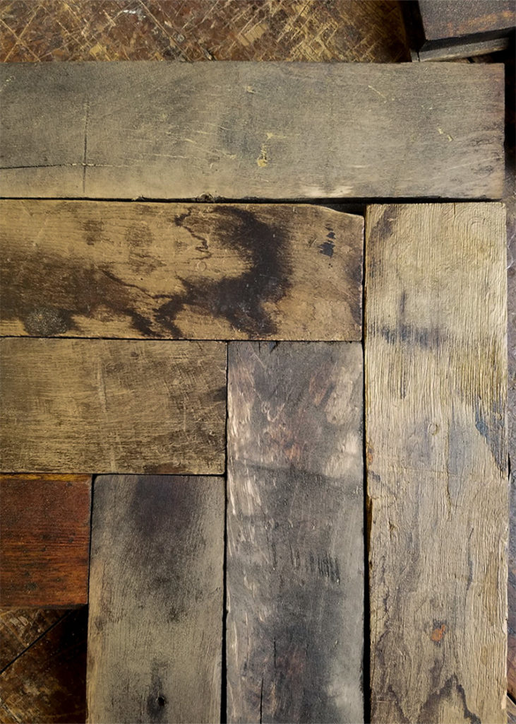 Salvaged Factory Maple Flooring. Unfinished.