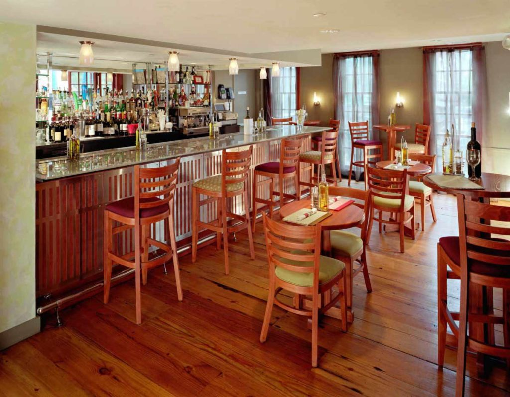 Salvaged Heart Pine Flooring ~ Red House Restaurant, Harvard Square, Cambridge, Massachusetts