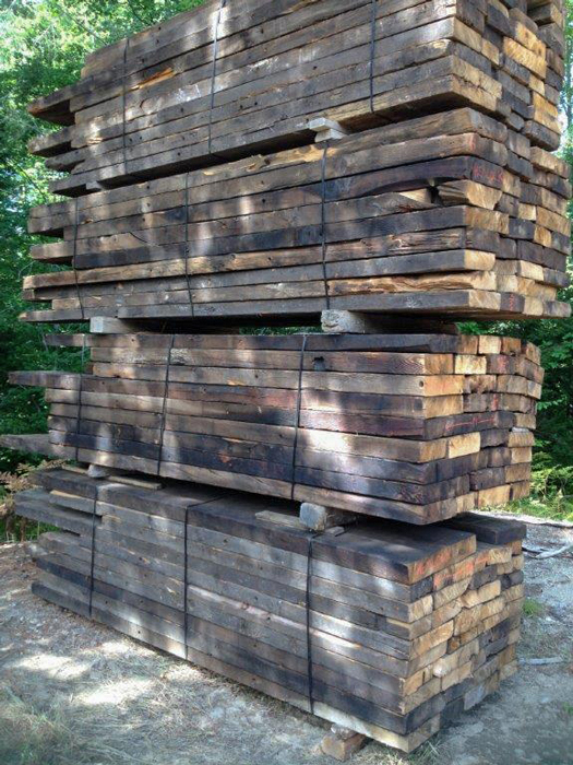 Reclaimed Hemlock Decking Salvaged from Mill